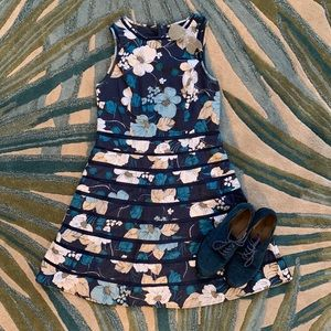 Ann Taylor Blue Floral Dress